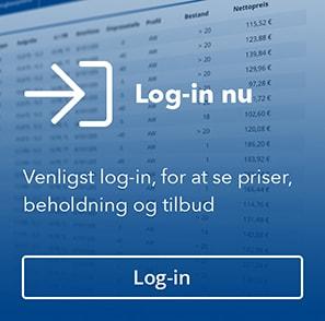 Venligst log-in, for at se priser, beholdning og tilbud